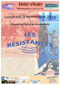 "20181109 Saint-Vaury: documentaire ""LES RESISTANCES"""